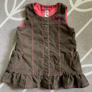REI   Baby Girl Sleeveless Button Down Dress - 6 M